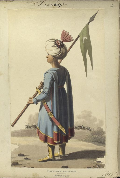 Spahi officer. The Vinkhuijzen collection of military uniforms / Turkey, 1812. See McLean's Turkish Army of 1810-1815.