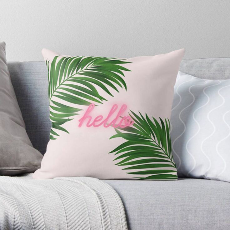 """1,169 Likes, 5 Comments - notonthehighstreet.com (@notonthehighstreet) on Instagram: """"Drift away to a tropical paradise with this personalisable Palm Print Cushion by @rubyandb. The…"""""""
