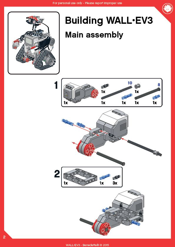 A LEGO WALL-E made with LEGO MINDSTORMS Education EV3. Get the building instructions and program now!