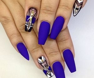 Marin blue nails