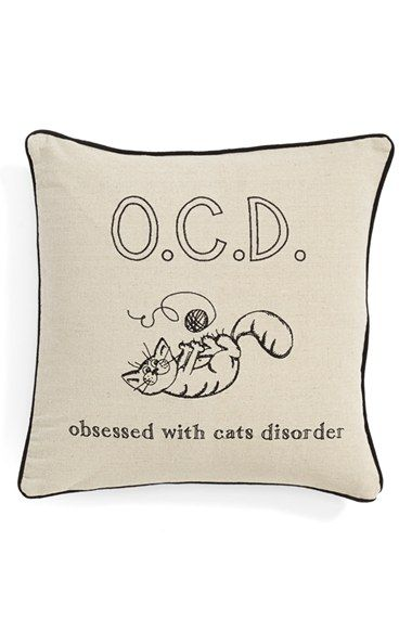Levtex 'Obsessed With Cats Disorder' Pillow available at #Nordstrom