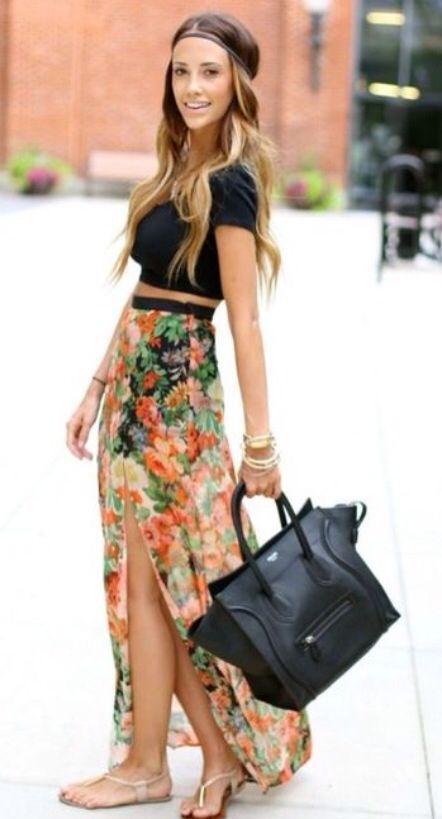 25  best ideas about Floral skirt outfits on Pinterest | Women's ...