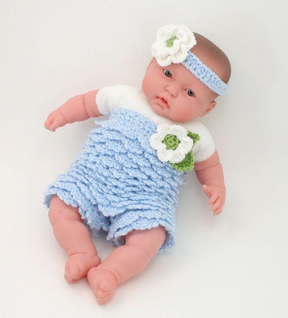 DIGITAL PATTERN:Baby Ruffle Romper PATTERNInfant by KnitsyCrochet