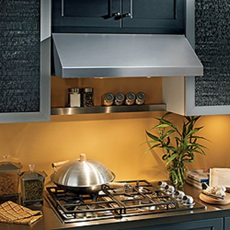 Broan AP130SS 30 inch Pro-Style Under Cabinet Range Hood with 440 CFM Internal Blower, Multiple Speed Electronic Control and Two-Level Light Settings: Stainless Steel