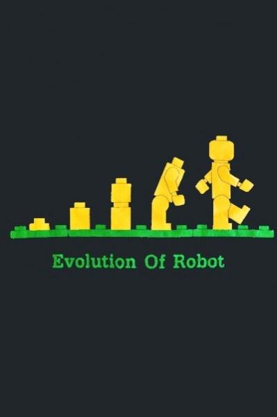 """T-Shirt Gris foncé """"Evolution of Robot"""" Légo. Existe en taille M ou L sur:  http://www.ethno-shop.fr/dhtml/produit_t_shirt_lego_gris_fonce_6904_9876.php  Prix de Vente: 19,90€"""