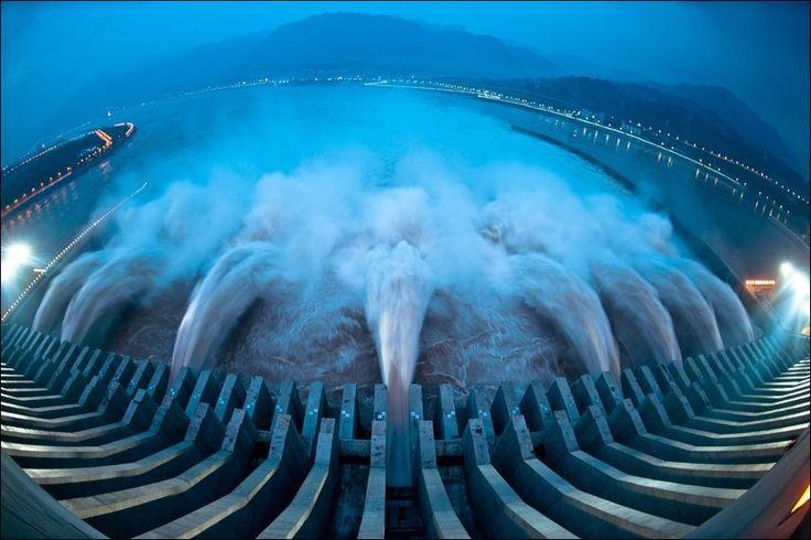 The three gorges dam on the Yangtze river