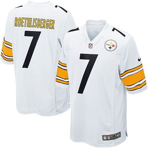 Nike Pittsburgh Steelers Youth #7 Ben Roethlisberger Limited White Road NFL Jersey