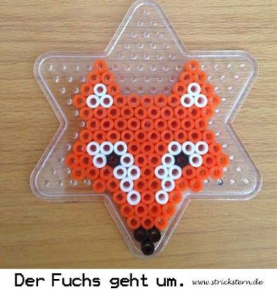 Bügelperlen Ideen Fuchs