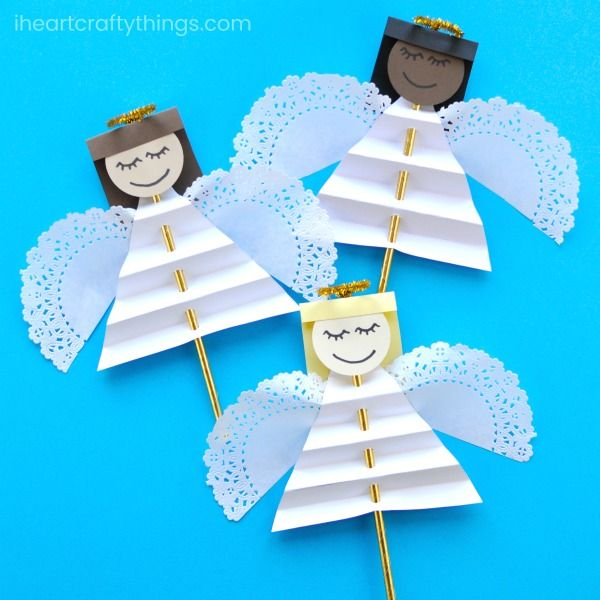 Beautiful Christmas Angel Craft for Kids | I Heart Crafty Things