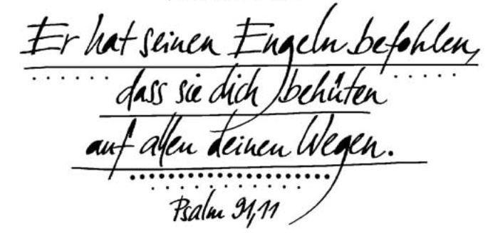 Taufspruch psalm 91,11f