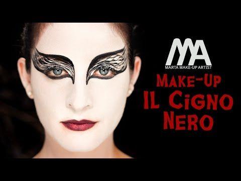 Make-up Il Cigno Nero | Come truccarsi per Halloween | Marta Make-up Artist - YouTube