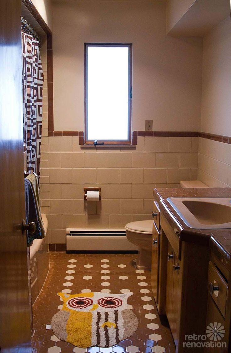 Retro Design Dilemma: Frank Wants Help Decorating His Brown And Beige Tile  Bathroom