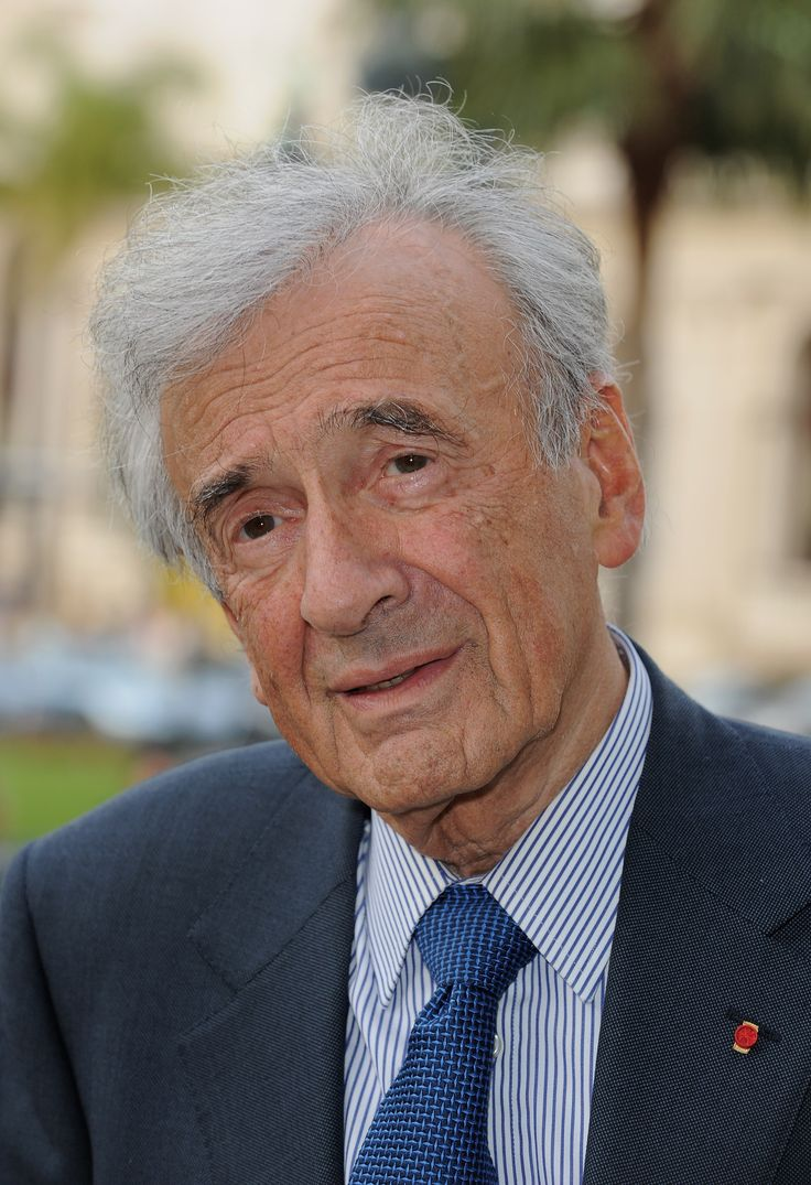 "Eliezer ""Elie"" Wiesel (Wiesel Lázár; born September 30, 1928) is a Romanian-born Jewish-American writer, professor, political activist, Nobel Laureate, and Holocaust survivor. He is the author of 57 books, including Night, a work based on his experiences as a prisoner in the Auschwitz, Buna, and Buchenwald concentration camps."