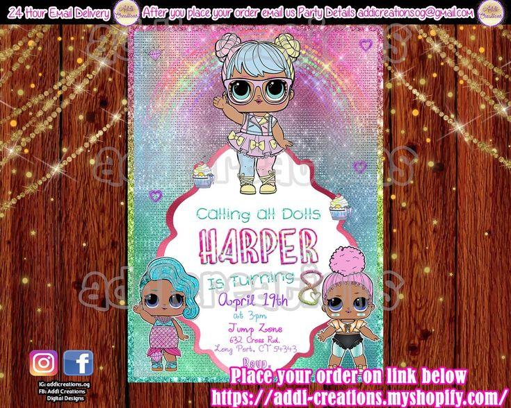Lol Surprise Doll Invitations, Lol Surprise Birthday Invitations, Lol Surprise – Melody's 5th Birthday Party Ideas