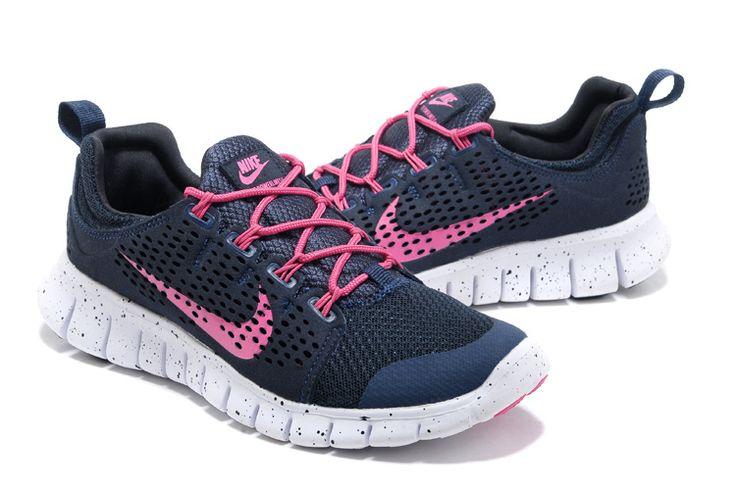 Nike Free Powerlines 2 Kvinner Svart Hvit Pink  €44.99