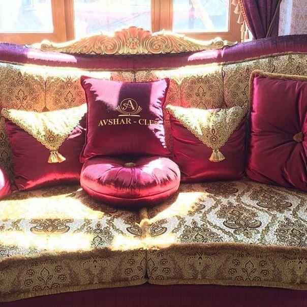 "Машинная вышивка на подушках в отеле ""Avshar-club"""