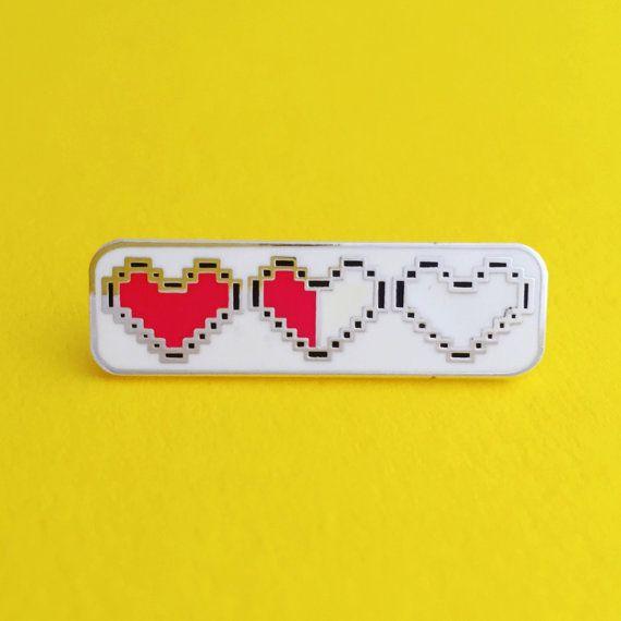 Heart Container Enamel Pin Badge  Zelda Pin  Geek by fairycakes