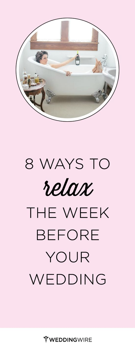 Before turning into a last-minute bridezilla, take a step back from the wedding planning stress and remember to relax! via @weddingwire