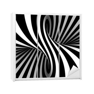 Naklejka na Szafę Black and white abstract 365 dni na zwrot ✓ Miliony wzorów ✓ 100% Eco-Friendly ✓ Profesjonalna obsługa i doradztwo ✓ Skonfiguruj online!
