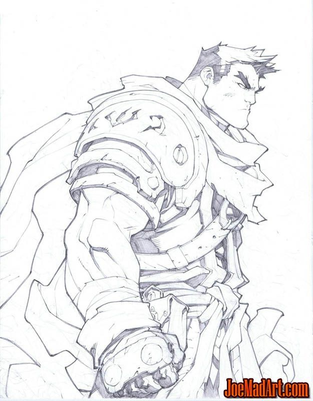 Battle Chasers Nightwar in-game Garrison Portrait - Joe Madureira (Penciler)…