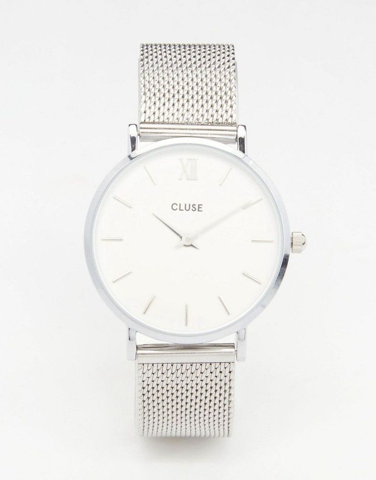 Image 1 - Cluse - Minuit CL30009 - Montre en maille - Argenté