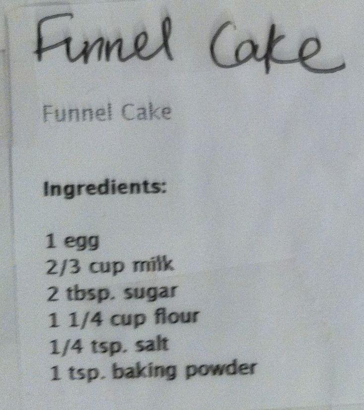 Best funnel cake recipe