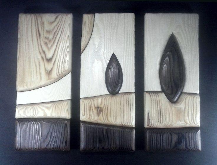tríptico en pino yakisugi