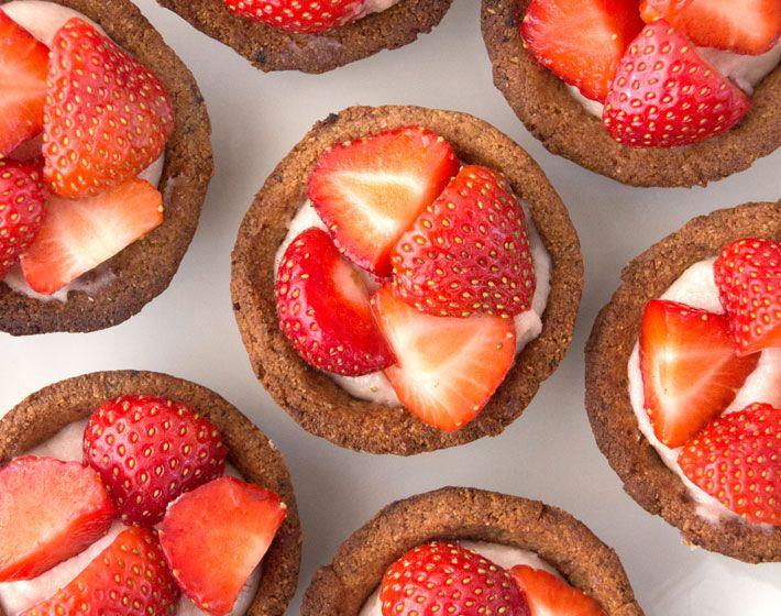 Strawberry and Coconut Cream Tarts