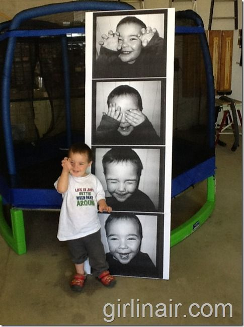 Fun supersized photo booth photo strips