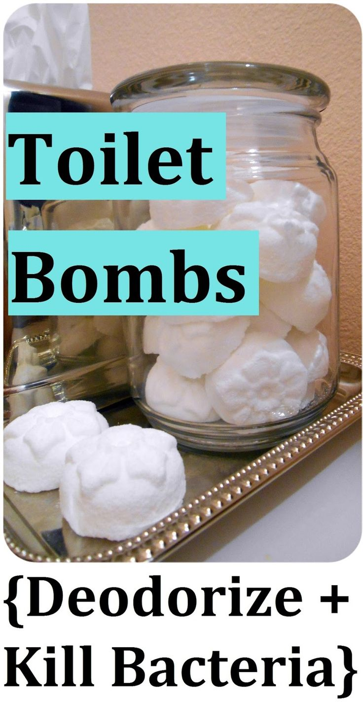 DIY Toilet Cleaning Bombs - Deodorize & Kill Bacteria! Just Drop One in the Bowl;-)))