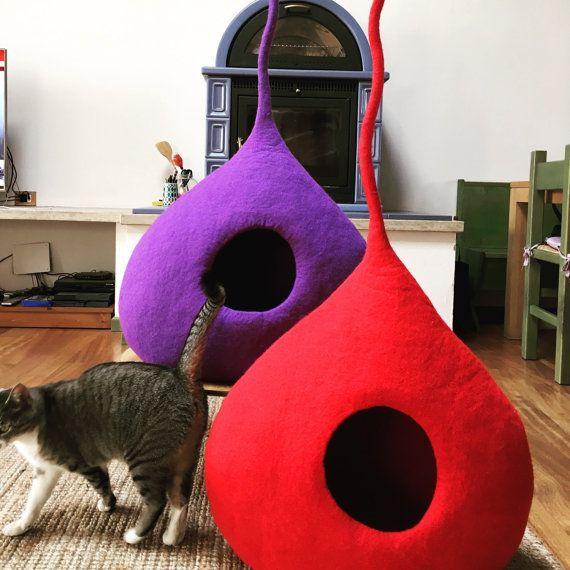 Cat пещера мята 100 % тирольском войлочная от WoolyCatCaves