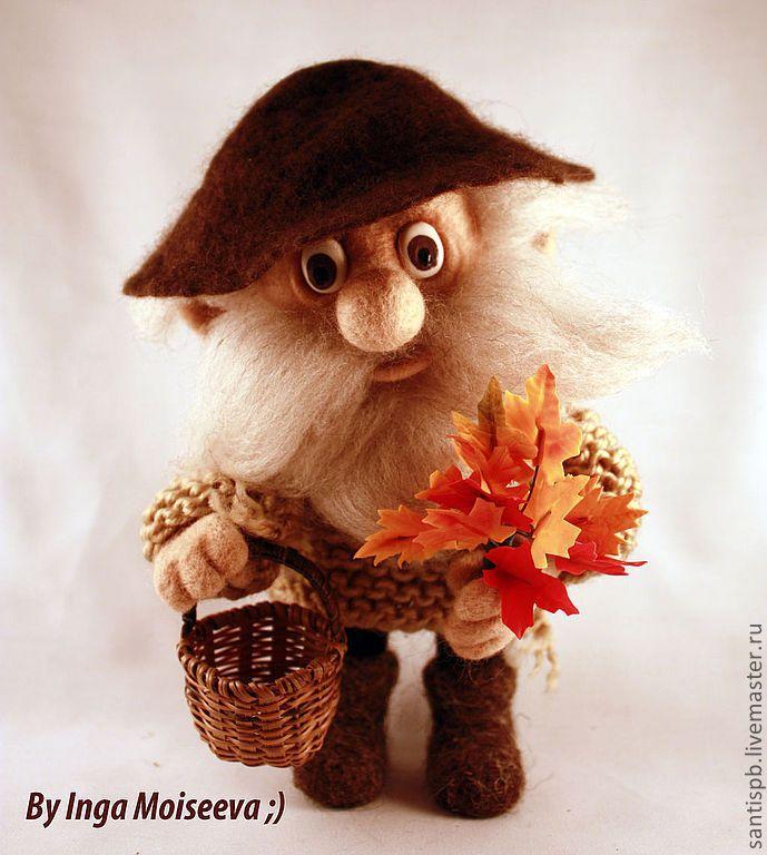 Купить Кукла войлочная Дядюшка Ау - авторская ручная работа, войлочная игрушка, домовой, леший