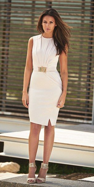 Michelle keegan unveils her new lipsy designs models Wedding guest dress lipsy