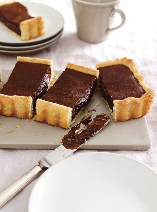 Tarte chaude et fondante au chocolat