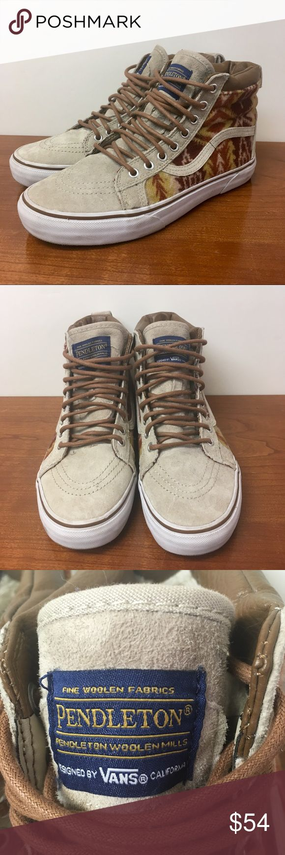 Vans x Pendleton Wool Fleece Lined hi tops An awesome collab Excellent condition Trusted quality and comfort  Smoke and pet free storage  Happy to answer any questions    Thanks for looking Vans Shoes Sneakers