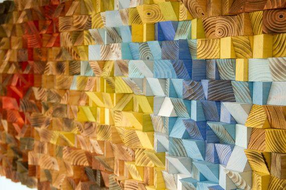 Arte de la pared arte de la pared rústica de madera la