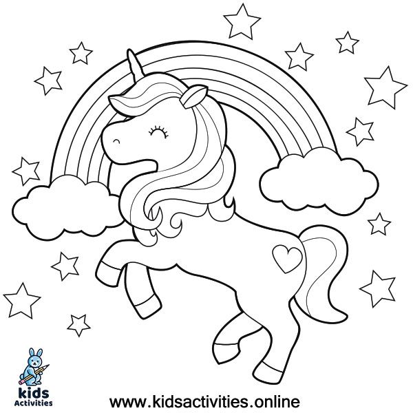 Coloring Pages For Kids Unicorn Cute Kids Activities In 2020 Unicorn Coloring Pages Coloring Pages Coloring Pages For Kids