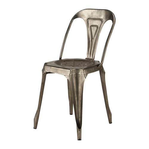 Sedia grigia stile industriale in metallo