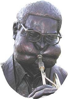 Statue of Dizzy Gillespie in his hometown Cheraw, South Carolina