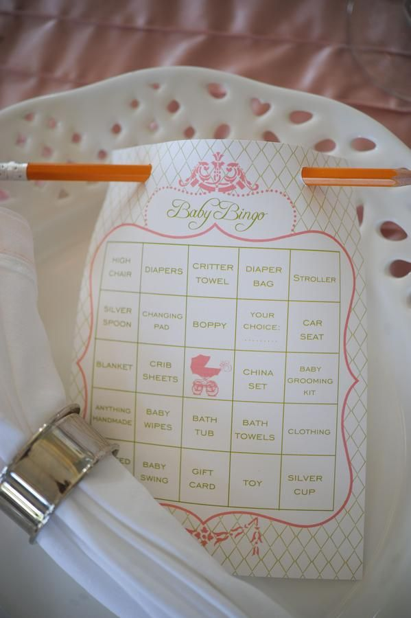 Baby shower game (LOVE the pencil idea!)