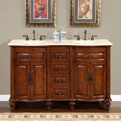 Silkroad Exclusive Double 55 Bathroom Vanity Hyp 0719 55