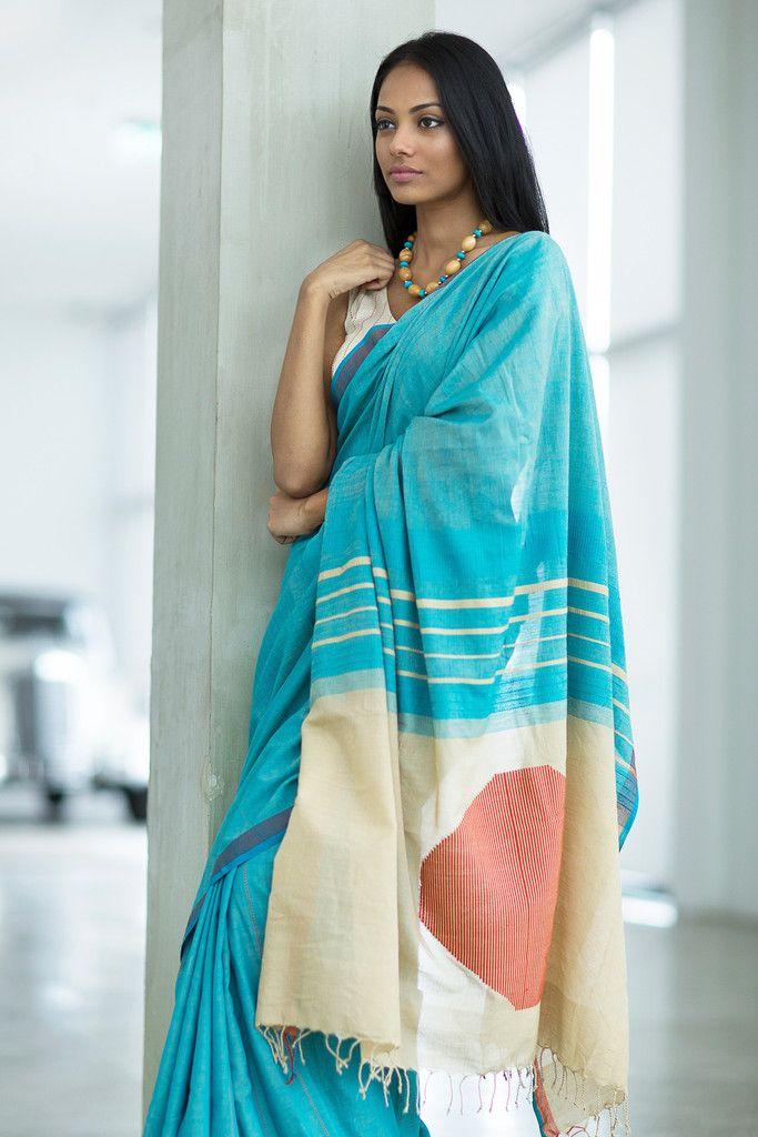 Hiru Handwoven Cotton Saree from Fashiomarket.lk