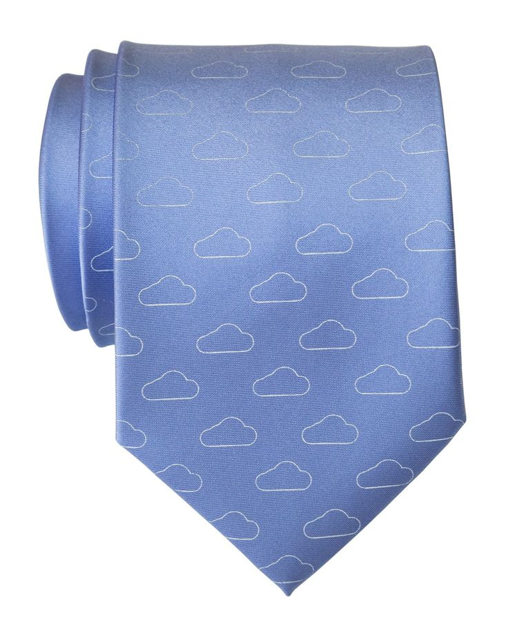 Partly Cloudy Necktie, Cloud Pattern Tie