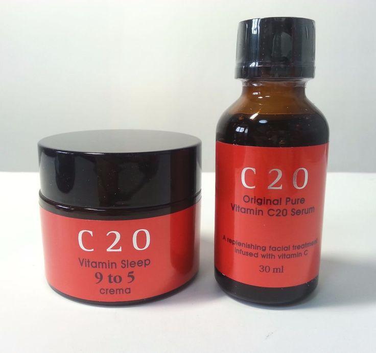 OST C20 Original Pure Vitamin Serum & Sleep 9 to 5 Crema Cream (30ml+50ml)…