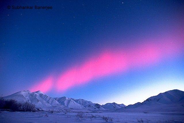 The Northern Lights in Alaska.