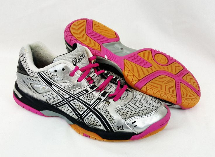 Asics Gel-Rocket Womens Volleyball Athletic Shoes Black Pink Silver B257N  Size 7 #ASICS