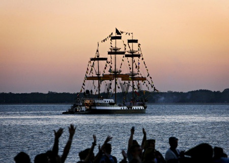 Gasparilla! Tampa's spin on Mardi Gras! every January there is a pirate invasion along Bayshore Blvd!
