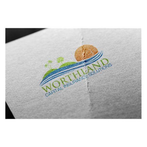 Worthland Capital Insurance Solutions �20New logo for company, incorporating original palm tree logo