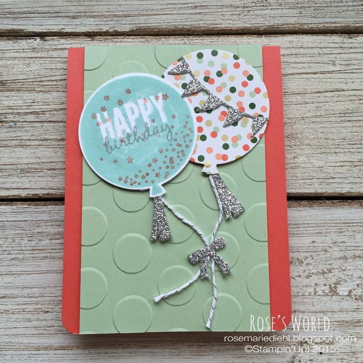 Birthday cards using the Celebrate Today bundle!