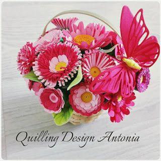 Quilling Design Antonia: Cosuri cu flori